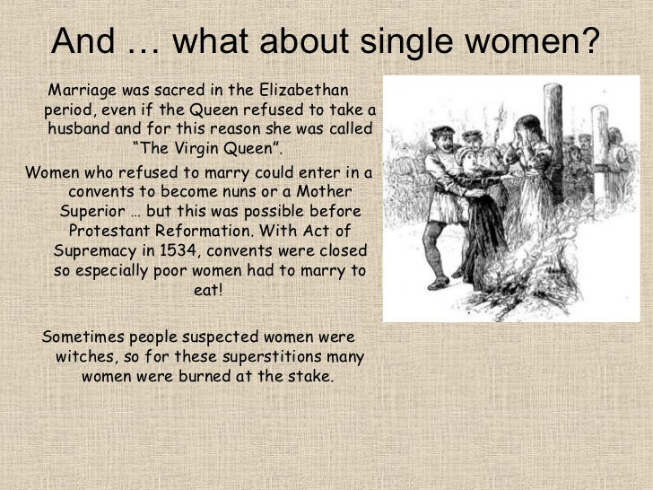 Virginity of elizabethan women