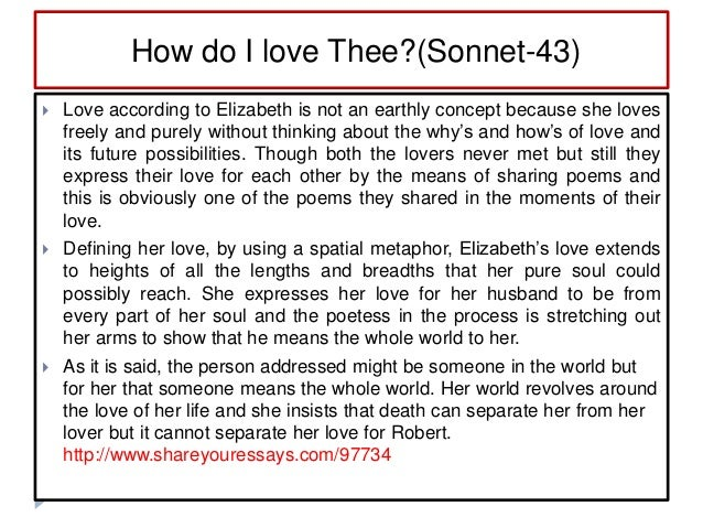 paraphrase of how do i love thee