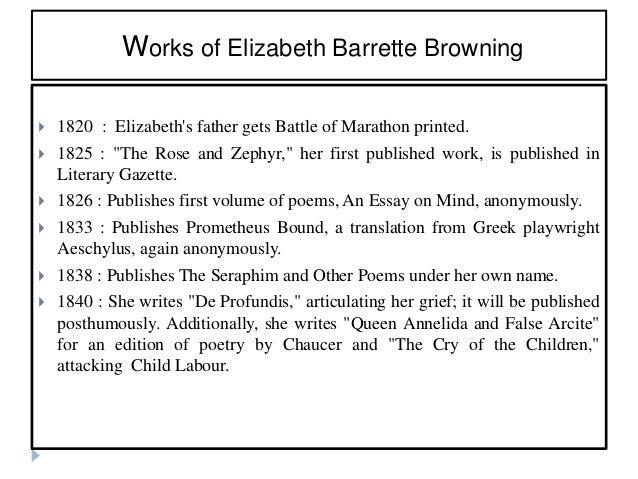 "elizabeth browning how do i love thee essay How do i love thee- essay ""how do i love thee let me count the ways"" by elizabeth barrett browning (1806-1861) how do i love thee let me count the ways."