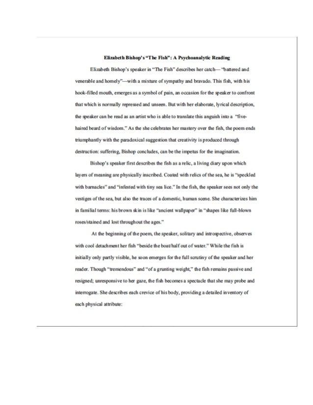 elizabeth bishop poem analysis