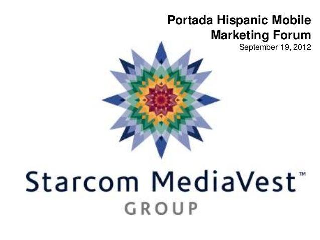 Portada Hispanic MobileMarketing ForumSeptember 19, 2012
