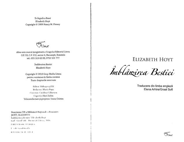Elizabeth hoyt   imblanzirea bestiei