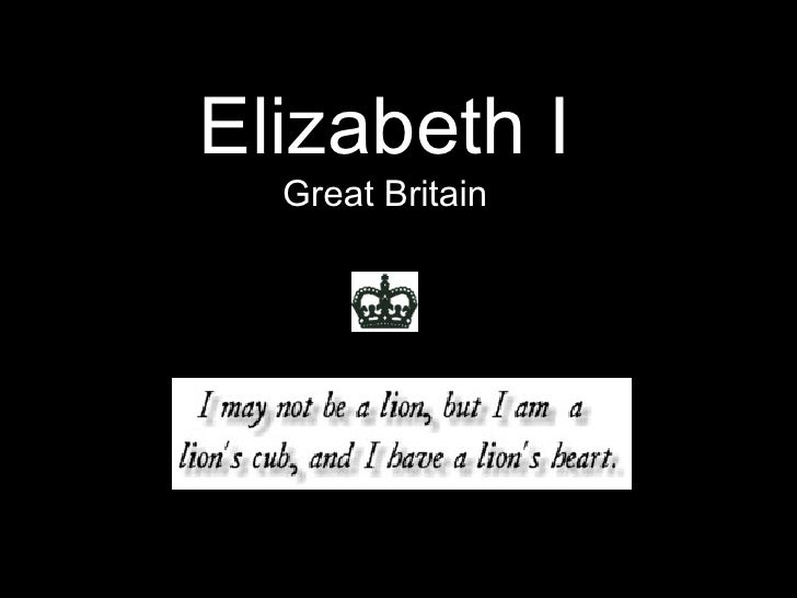 Elizabeth I Great Britain