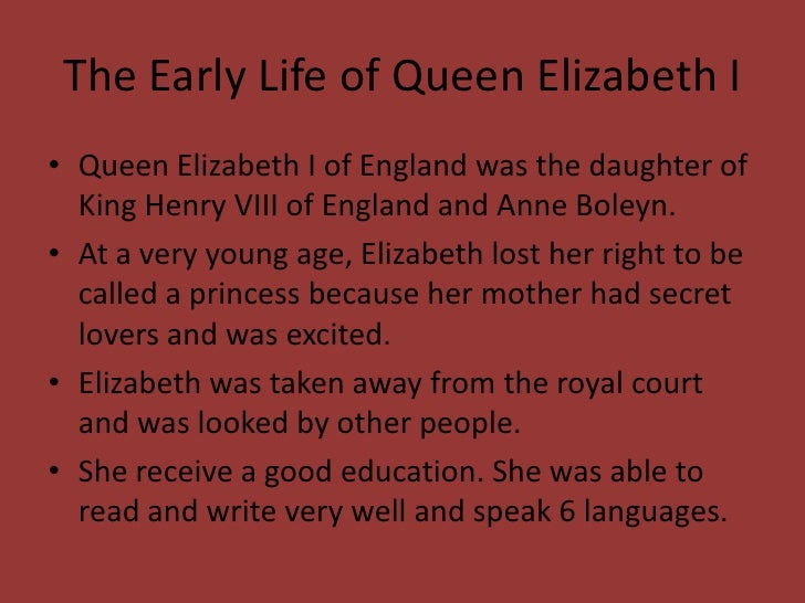 elizabeth i early life