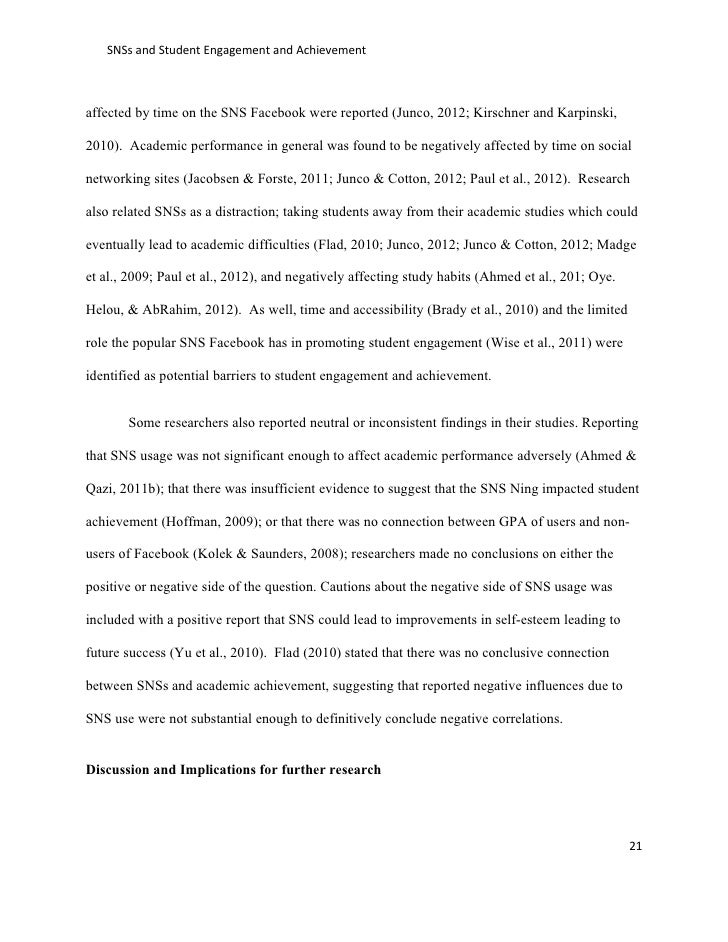 effect of online social networking sites on student engagement and ac   21