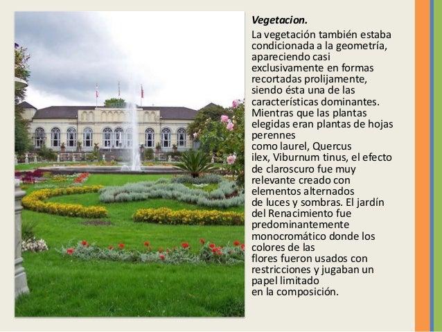 El jardin del renacentista italiano for Jardin en ingles