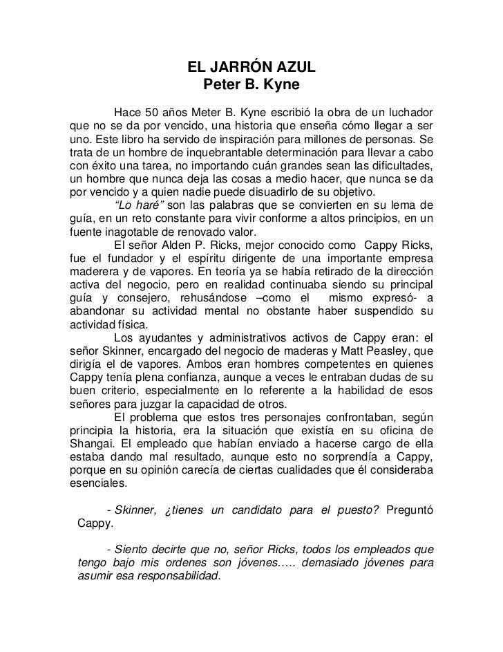 EL JARRÓN AZUL                         Peter B. Kyne          Hace 50 años Meter B. Kyne escribió la obra de un luchadorqu...