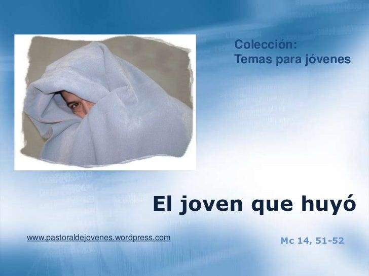 Resultado de imagen de EL JOVEN QUE SALIO HUYENDO DESNUDO EN MARCOS 14:51-52