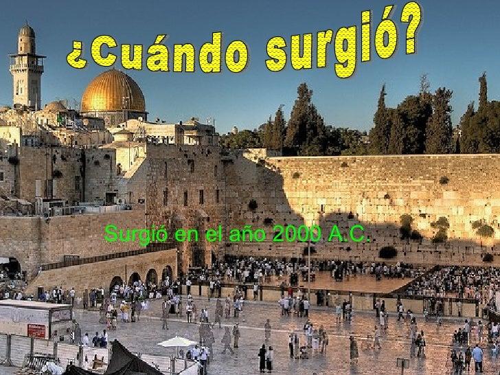 Cuando Surge El Judaismo - SEONegativo.com