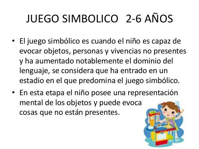 JUEGO SIMBOLICO 2-6 AÑOS• El juego simbólico es cuando el niño es capaz de  evocar objetos, personas y vivencias no presen...