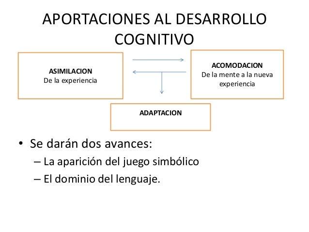 APORTACIONES AL DESARROLLO            COGNITIVO                                          ACOMODACION     ASIMILACION      ...