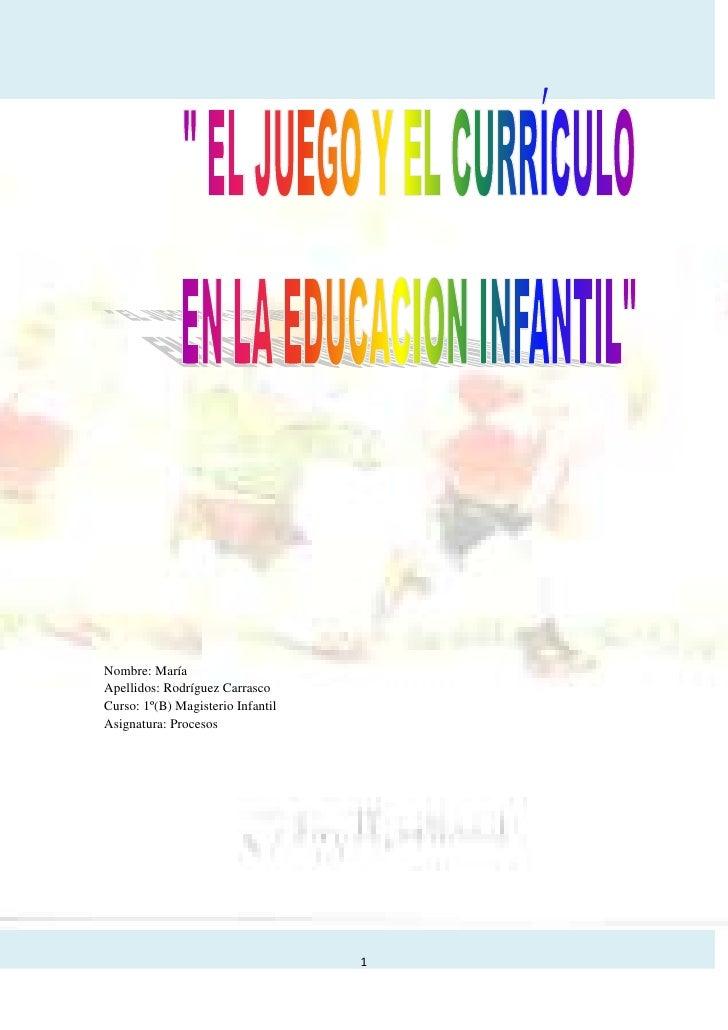 Nombre: MaríaApellidos: Rodríguez CarrascoCurso: 1º(B) Magisterio InfantilAsignatura: Procesos                            ...