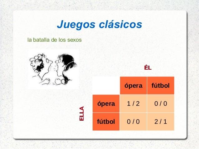 Juegos clásicos la batalla de los sexos ópera fútbol ópera 1 / 2 0 / 0 fútbol 0 / 0 2 / 1 ELLAELLA ÉLÉL
