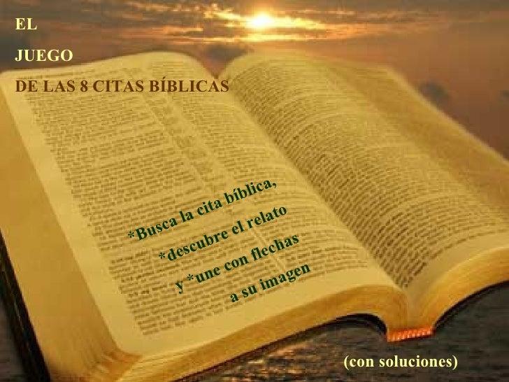 El Juego De Las 8 Citas Biblicas