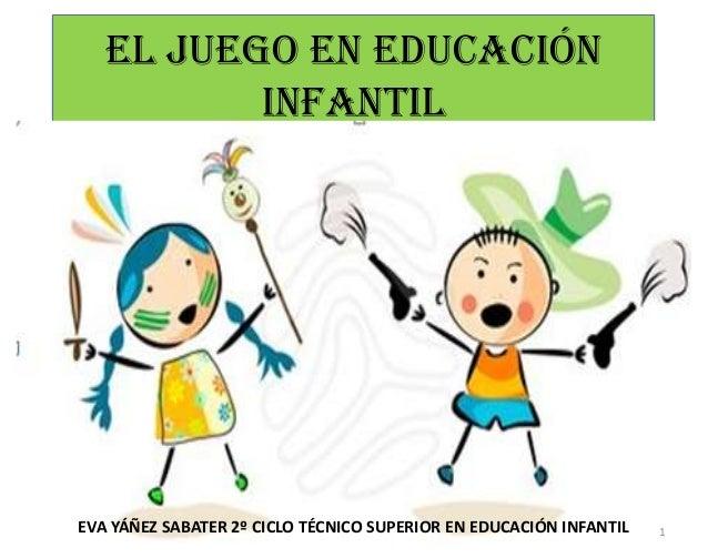 EL JUEGO EN EDUCACIÓN          INFANTILEVA YÁÑEZ SABATER 2º CICLO TÉCNICO SUPERIOR EN EDUCACIÓN INFANTIL   1