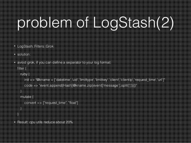 Split logstash