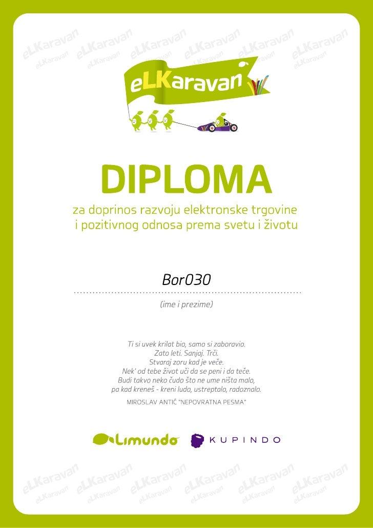 eLKaravan diploma za Bor030