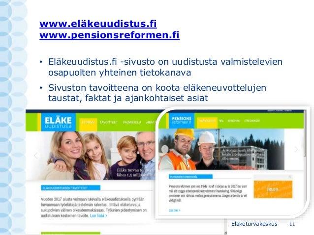 Eläkeuudistus 2017 sosiaaliturva ja verotus ulkomaille –infotilaisu…