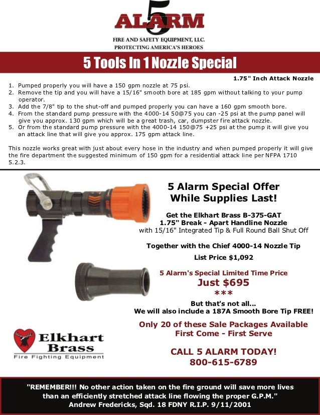 """5 Tools In 1 Nozzle Special                                                                            1.75"""" Inch Attack N..."""