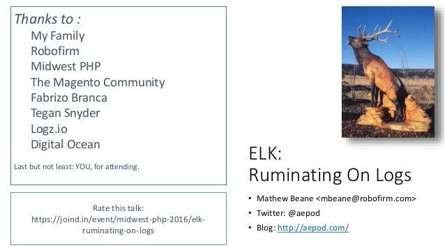 Thanks / QA • Mathew Beane <mbeane@robofirm.com> • Twitter: @aepod • Blog: http://aepod.com/ Rate this talk: https://joind...