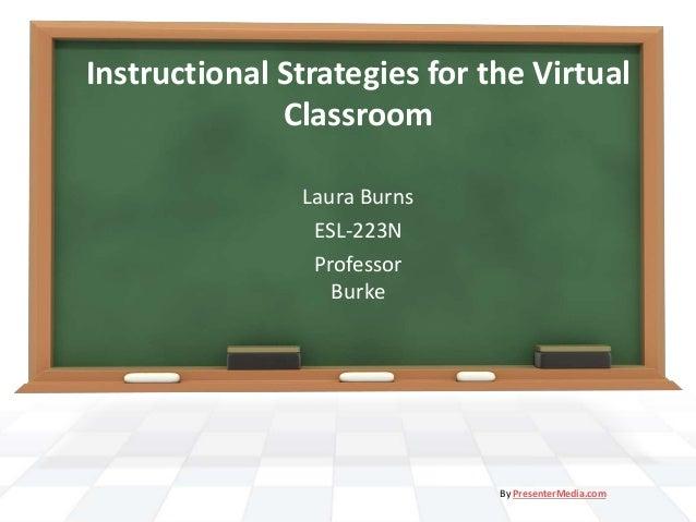 Instructional Strategies for the Virtual Classroom Laura Burns ESL-223N Professor Burke By PresenterMedia.com