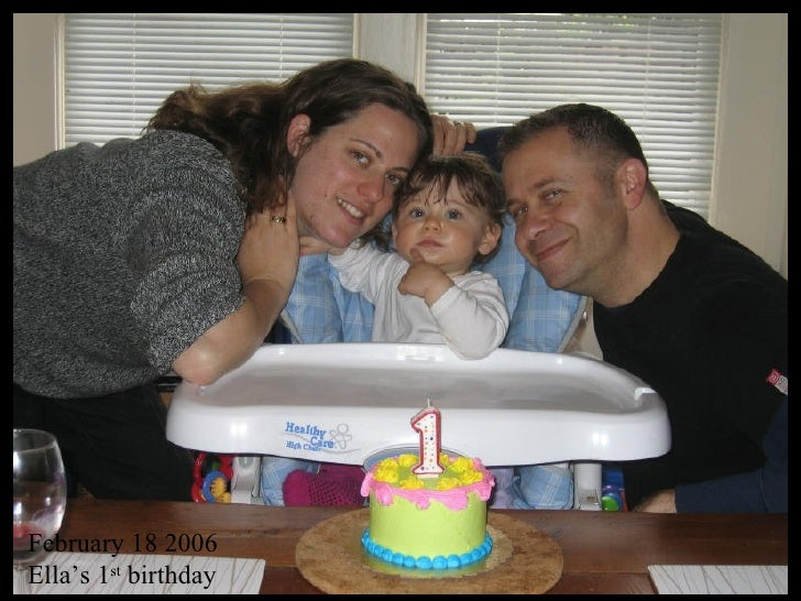 February 18 2006 Ella's 1 st  birthday