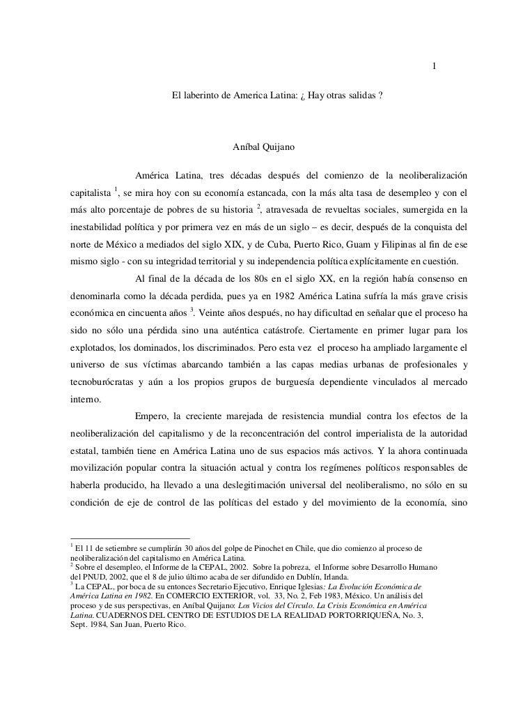 1                            El laberinto de America Latina: ¿ Hay otras salidas ?                                        ...