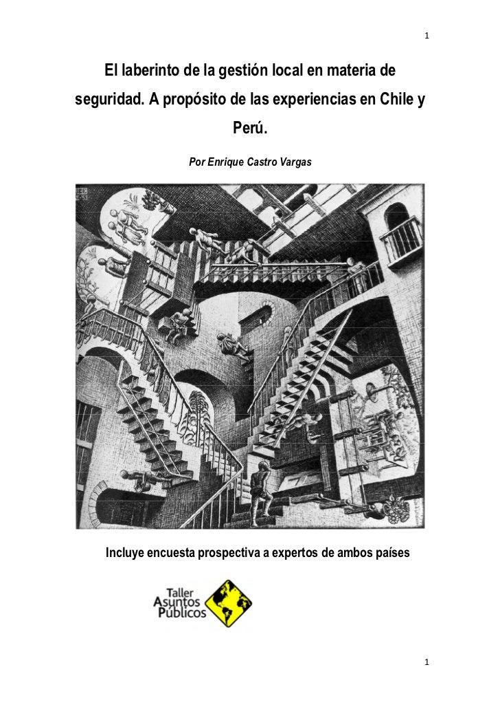 1    El laberinto de la gestión local en materia deseguridad. A propósito de las experiencias en Chile y                  ...