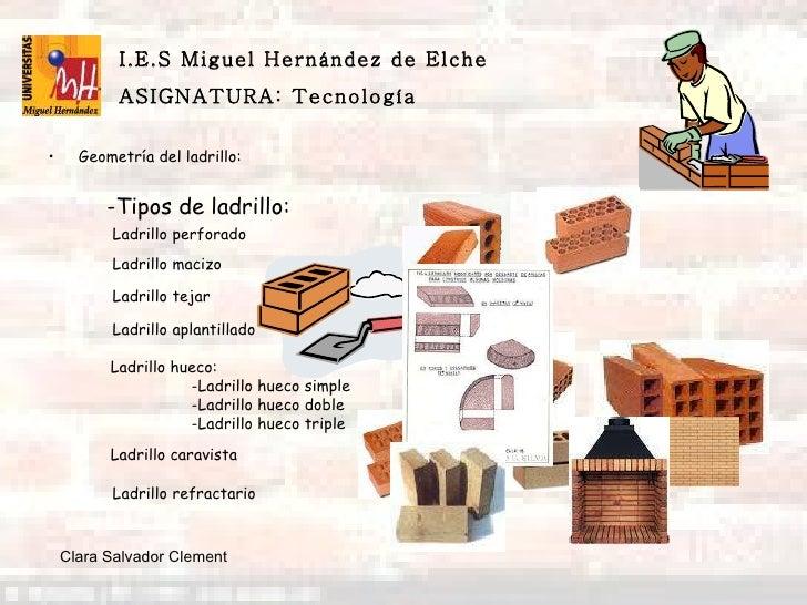 El ladrillo y sus aplicaciones - Tipos de ladrillos huecos ...