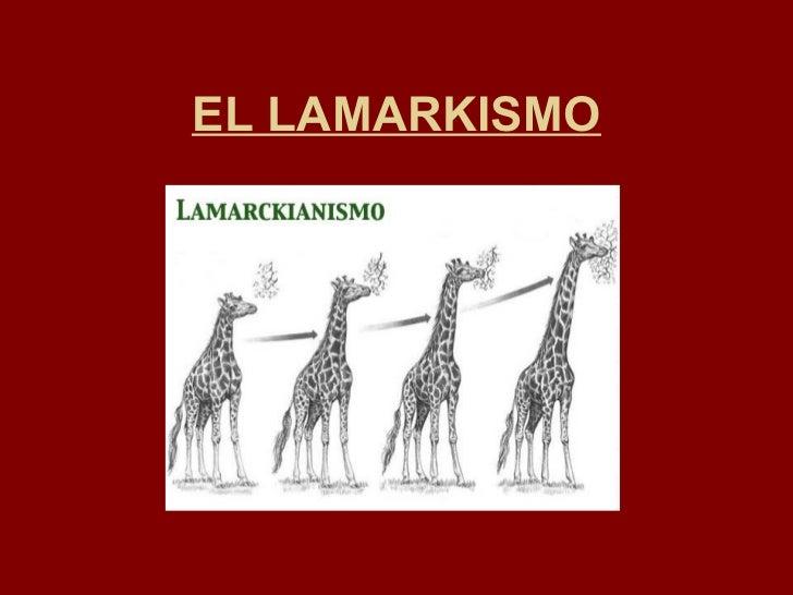 EL LAMARKISMO