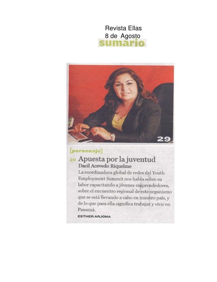 Revista Ellas 8 de Agosto