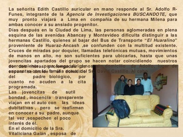 La señorita Edith Castillo auricular en mano responde al Sr. Adolfo R-Funes, integrante de la Agencia de Investigaciones B...