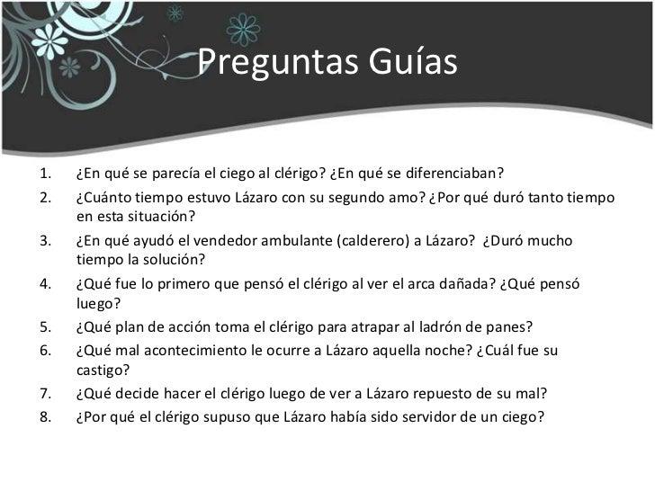 Lazarillo De Tormes Tratado 1 Preguntas Y Respuestas