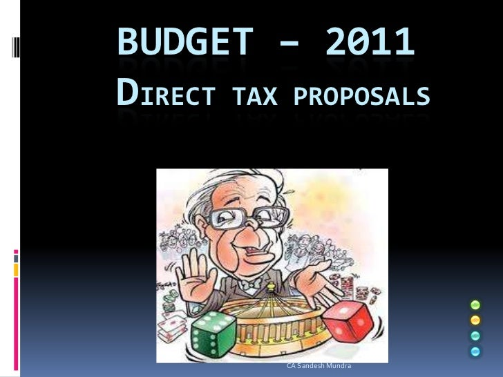 Budget – 2011Direct Tax Proposals<br />CA Sandesh Mundra<br />