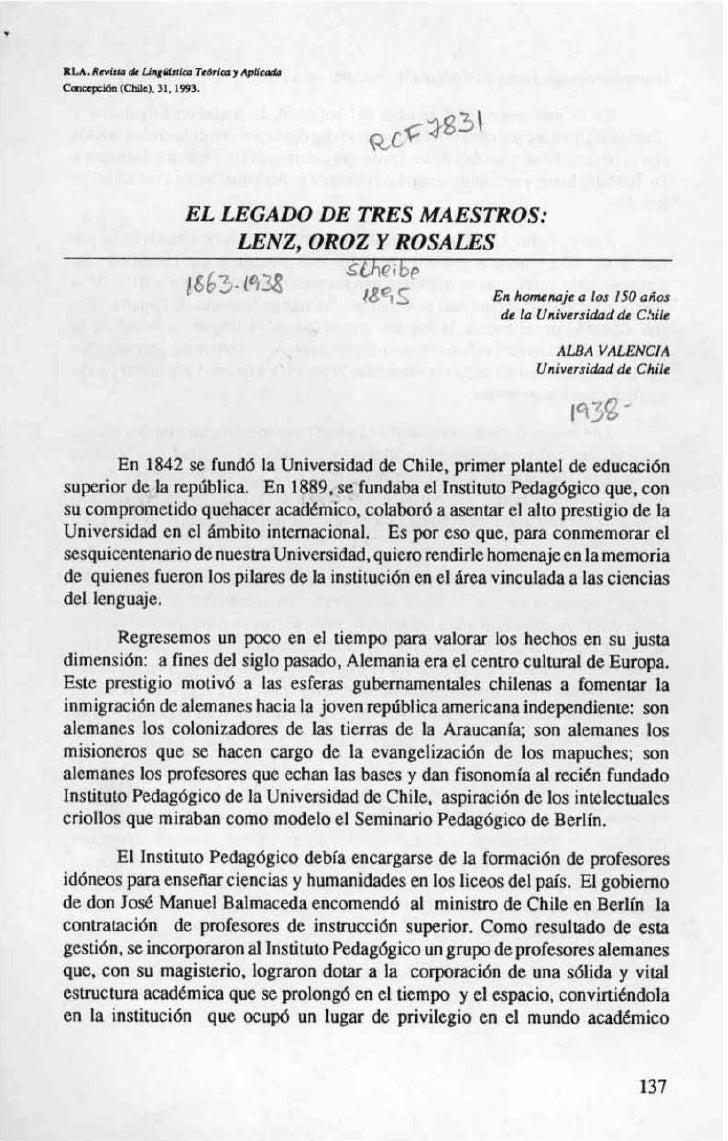 EL LEGADO DE TRES MAESTROS:                    LENZ, ORO2 Y ROSALES                                       5 t h !-~ ~     ...