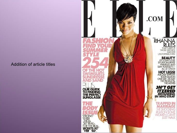 Elle magazine dating