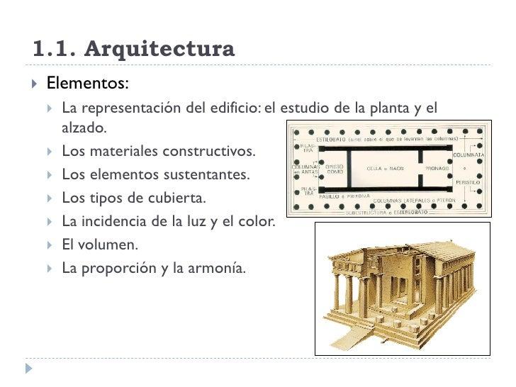 El lenguaje del arte for Arquitectura materias