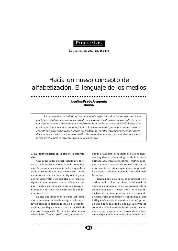 COMUNICAR 16, 2001                                        Propuestas                                 COMUNICAR 16, 2001; p...
