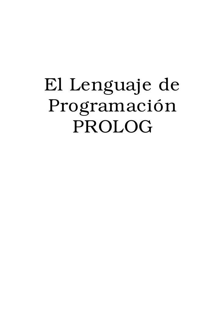 El Lenguaje deProgramación   PROLOG