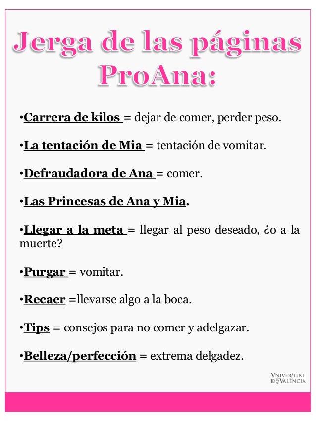 Tips para adelgazar ana y mia princesas