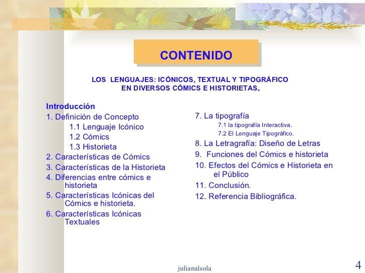 CONTENIDO <ul><li>Introducción </li></ul><ul><li>1. Definición de Concepto </li></ul><ul><ul><li>1.1 Lenguaje Icónico </li...