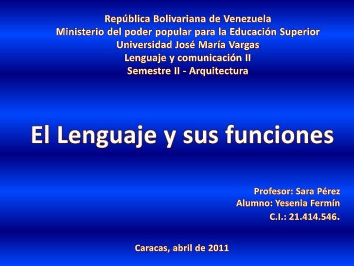 República Bolivariana de Venezuela<br />Ministerio del poder popular para la Educación Superior<br />Universidad José Marí...