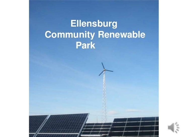 EllensburgCommunity Renewable     Park