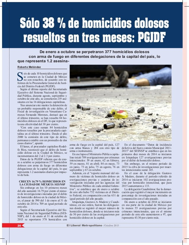 Roberto Meléndez S eis de cada 10 homicidios dolosos que se cometen en la Ciudad de México no son resueltos, de acuerdo co...