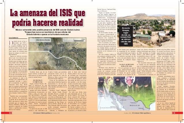 19El Liberal Metropolitano /Octubre 201518 Octubre 2015 / El Liberal Metropolitano Lino Calderón D urante meses se ha es- ...