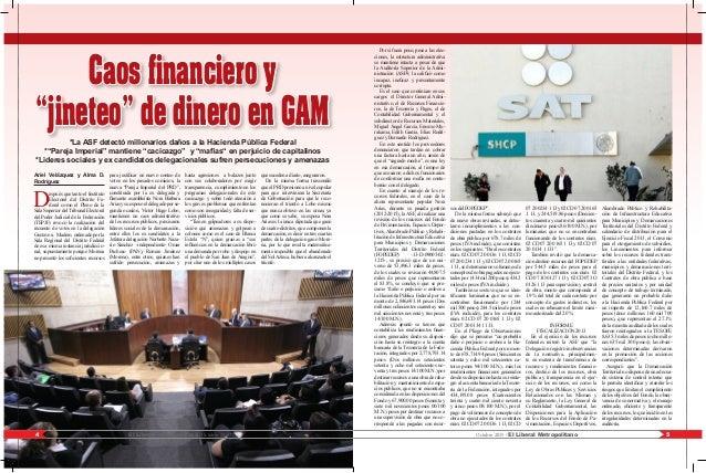 "5El Liberal Metropolitano /Octubre 20154 Octubre 2015 / El Liberal Metropolitano Caos financiero y ""jineteo"" de dinero en ..."
