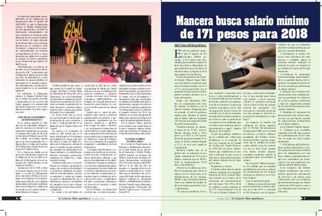 Staff Liberal Metropolitano E l jefe de gobierno asegu- ra que el ingreso de los mexicanos debería au- mentar a 82.9 pesos...