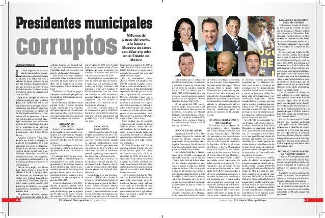 Presidentes municipales corruptosJoaquín Morgado L a lista negra de los ex presi- dentes municipales que apro- vechando su...