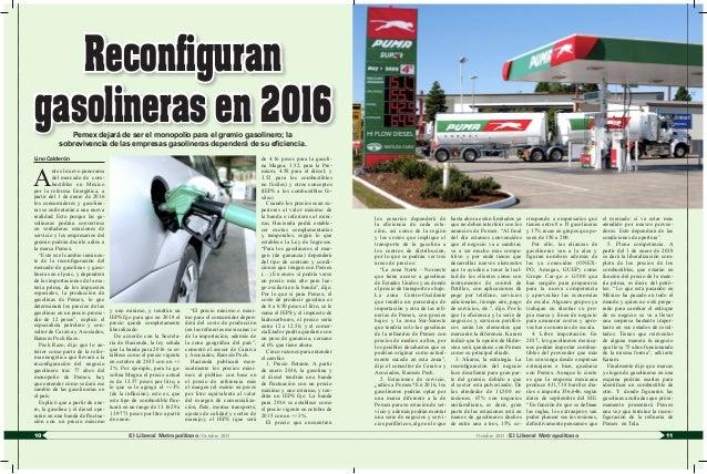 11El Liberal Metropolitano /Octubre 201510 Octubre 2015 / El Liberal Metropolitano Lino Calderón A nte el nuevo panorama d...