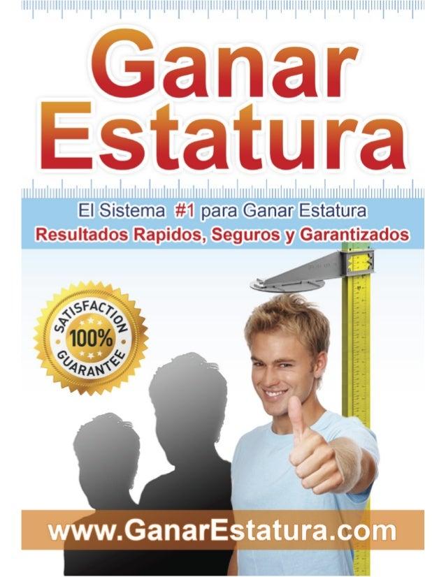 Ganar Estatura™ por Luis García El Sistema #1 para Ganar Estatura... Resultados Rapidos, Seguros y Garantizados